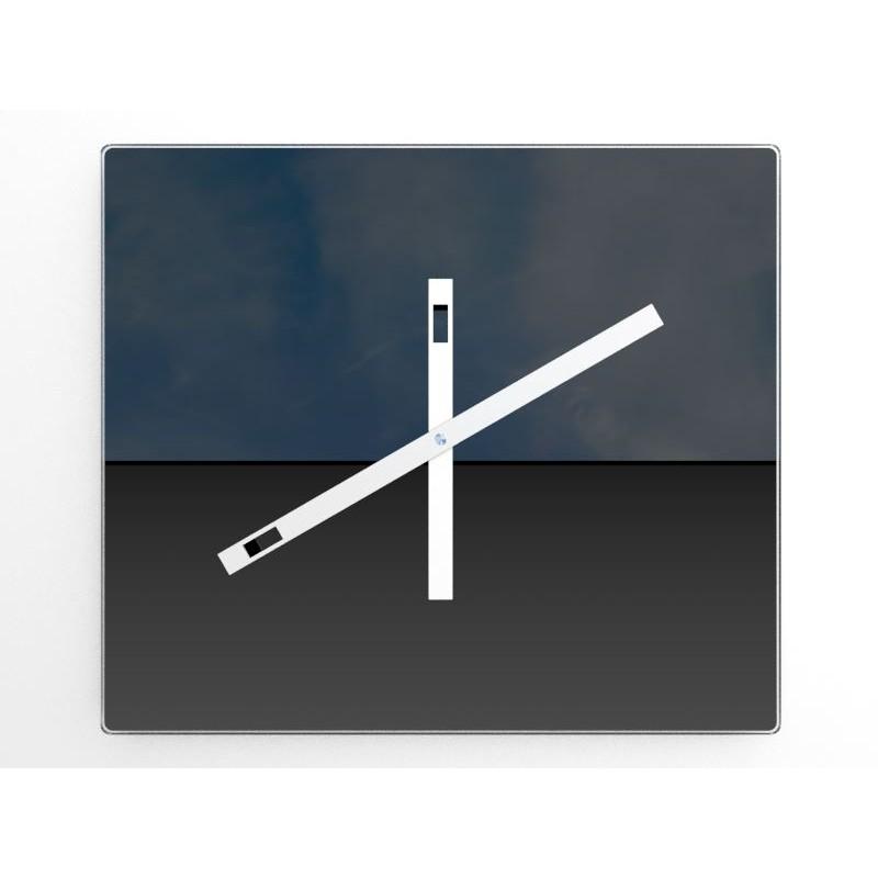 design wanduhr temporia spiegel digital